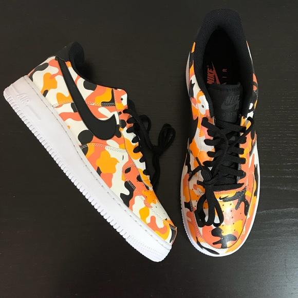 cheap for discount 5fa86 67412 Men s Nike • Air Force 1  07 LV8 Team Orange Black